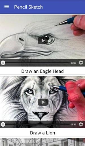 Pencil sketch videos