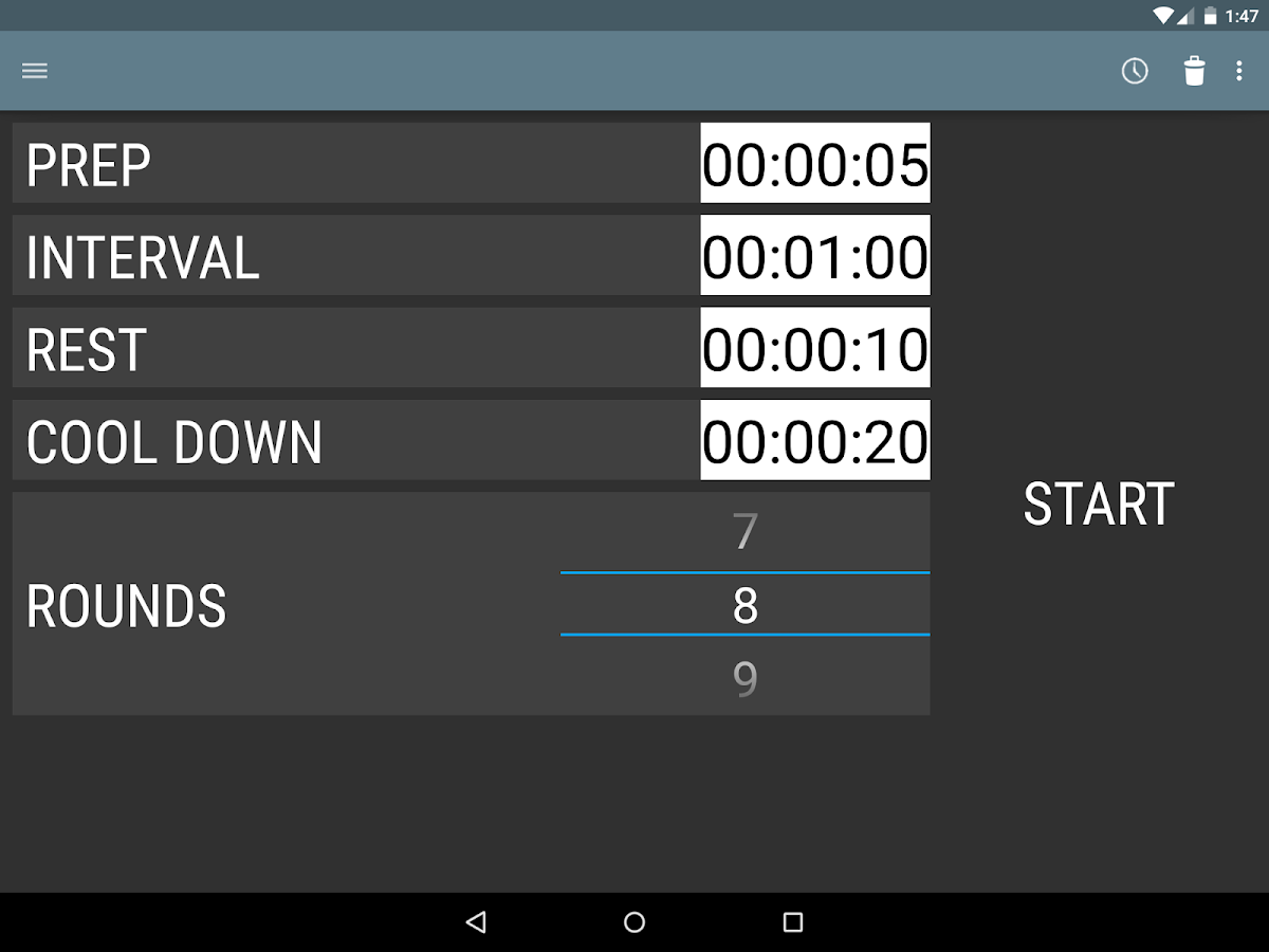 Interval Timer- screenshot