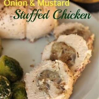 Onion and Mustard Stuffed Chicken Breasts.