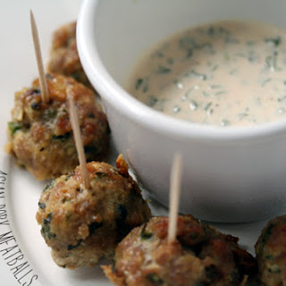 Asian Pork Meatballs with Dipping Sauce