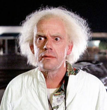 Christopher Lloyd in Back to the Future