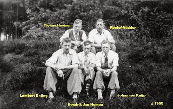 Photo: Tienus Hoving, Roelof Vedder, Lambert Enting, Hendrik Jan Homan en Johannes Knijp
