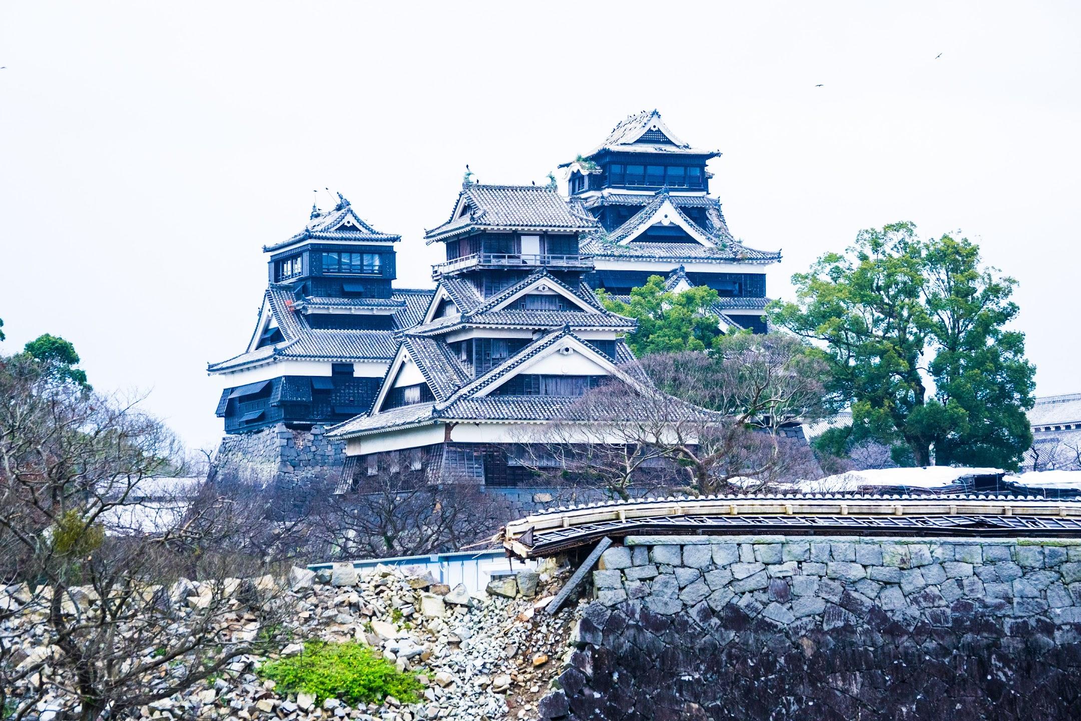 熊本城 二の丸広場 大天守・小天守・宇土櫓2
