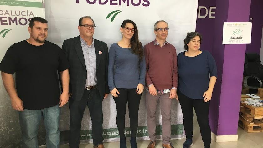 Podemos presenta candidatos en Almería, El Ejido, Roquetas, Vícar y Huércal