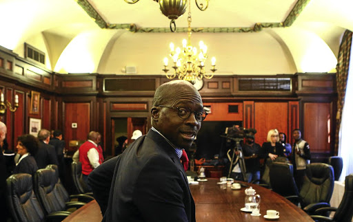 Minister of Finance Malusi Gigaba after a meeting with the CEO Initiative, which some who attended called 'a step in the right direction'. Picture: Masi Losi
