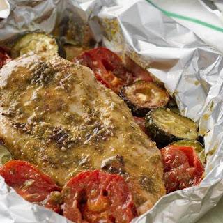 Grilled Pesto Chicken Packs