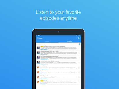Podcast App- screenshot thumbnail