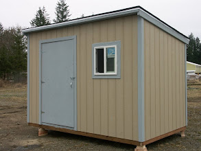 Photo: Torsion box sandwich panels insulate this shed no matter what the weather.