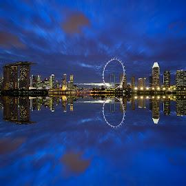 by Gordon Koh - City,  Street & Park  Night