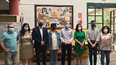 El delegado ha visitado dos centros educativos de Olula.