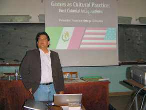 Photo: Francisco practises games culturally