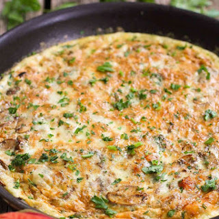 Vegetarian Frittata with Butternut Squash & Mushrooms Recipe