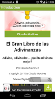 Screenshot of El Libro de las Adivinanzas