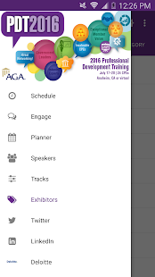 AGA's 2016 PDT screenshot