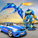 US Police Transform Robot Car Fire Dragon Fight icon