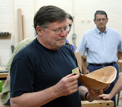 Photo: Richard Webster made a large, natural-edge cherry bowl with a beautifully flowing rim, the bark removed.