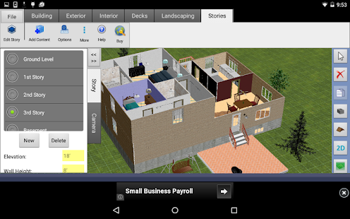 Dreamplan home design free android apps on google play for 3d floor plan app