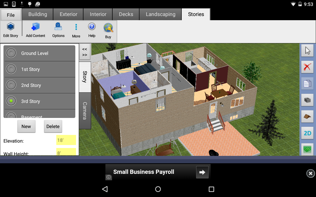 House design application - Dreamplan Home Design Free Screenshot