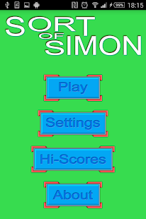 Sort of Simon- screenshot thumbnail