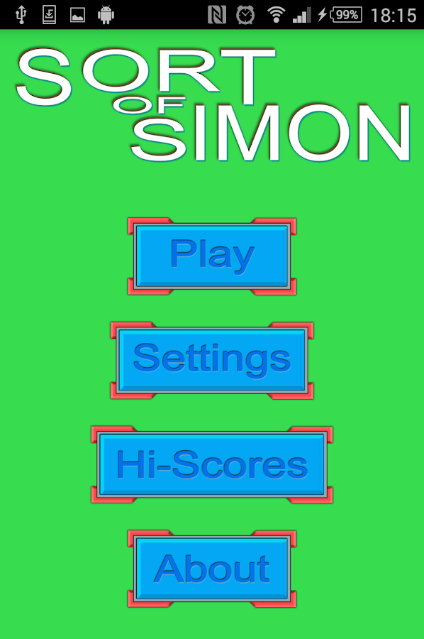 Sort of Simon- screenshot