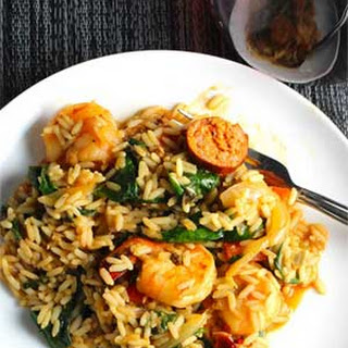 Jambalaya with Shrimp and Turkey Sausage