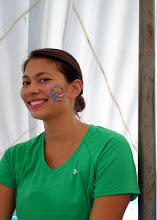 Photo: Peace Corps Volunteer, Boo, showing her PC pride