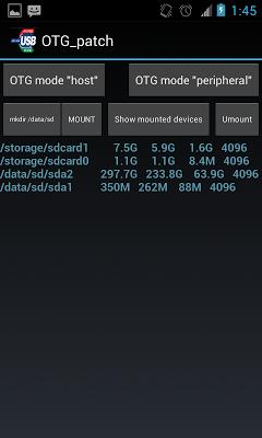 OTG USB patch (root) +NTFS mnt - screenshot