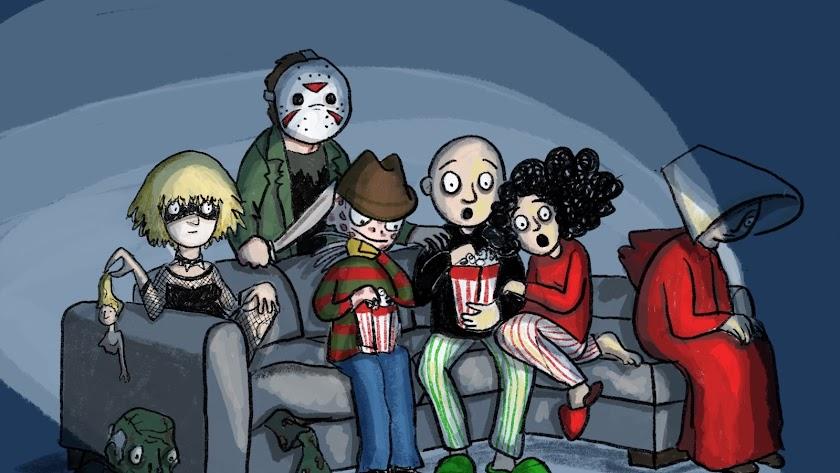 Ver una película acompañada de personajes cinematográficos, por Carmen F. Agudo.