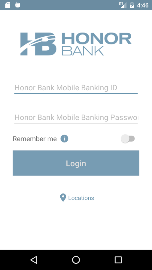 Honor Bank Mobile Banking- screenshot