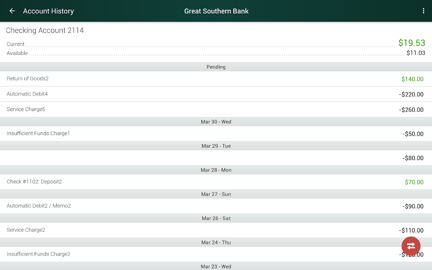 Great Southern Bank- screenshot