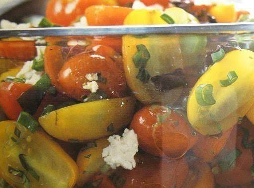 Cherry Tomato Basil And Goat Cheese Salad
