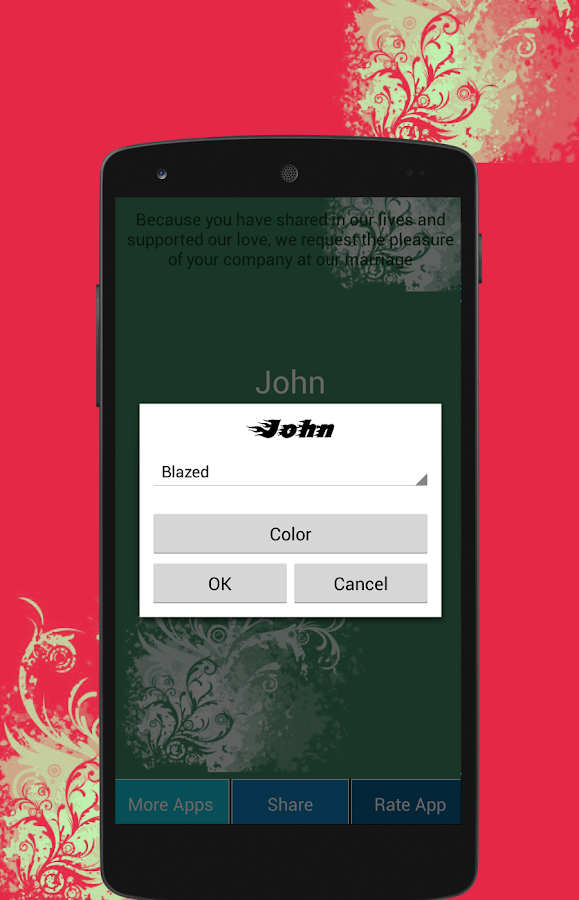 Wedding invitation maker android apps on google play wedding invitation maker screenshot stopboris Gallery