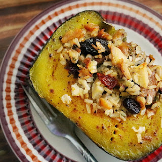Stuffed Buttercup Squash- Whole Grain Rice & Chicken