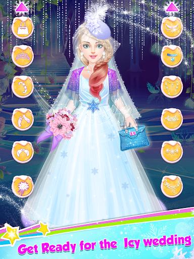 Ice Princess Wedding Dress Up Stylist screenshot 6