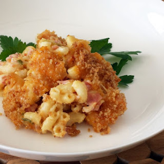 Baked Macaroni and Cheese with Ham Recipe