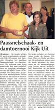 Photo: Paassnelschaak- en damtoernooi Kijk Uit. 28 april 2011