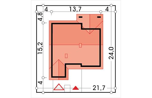 Ambrozja wersja A parterowa z pojedynczym garażem - Sytuacja