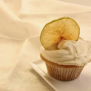 Apple Cupcakes with Vanilla Cinnamon Frosting.