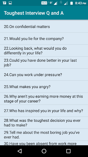 Nice About Interview Questions And Answers