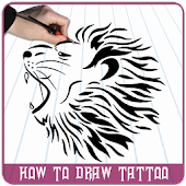How to Draw Tattoo - Step by Step Tattoo Design