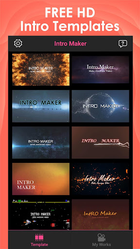 Intro Maker for YT - music intro video editor 2.5.8 screenshots 1