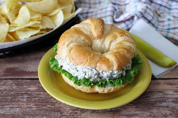 Fancy Tuna Salad On A Croissant.