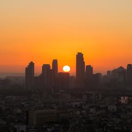 Manila Sunset by Anton Labao - City,  Street & Park  Skylines ( golden hour, manila sunset, sunset, landscape, canon )