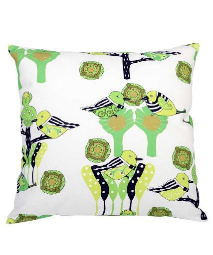 Kuddfodral Garden Party grön 48x48 cm
