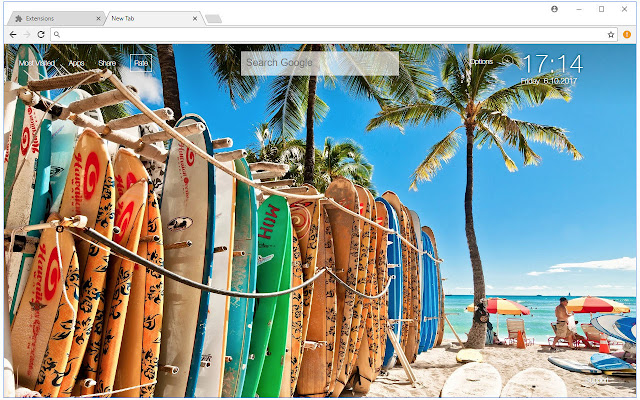Chrome Web Store Wallpapers Cars Hawaii Wallpapers Hd Beach New Tab Themes Free Addons