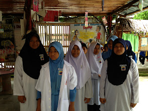 Photo: School girls in a village in Malaysia.