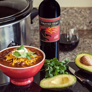 Toasted Head Crockpot Chili and Merlot