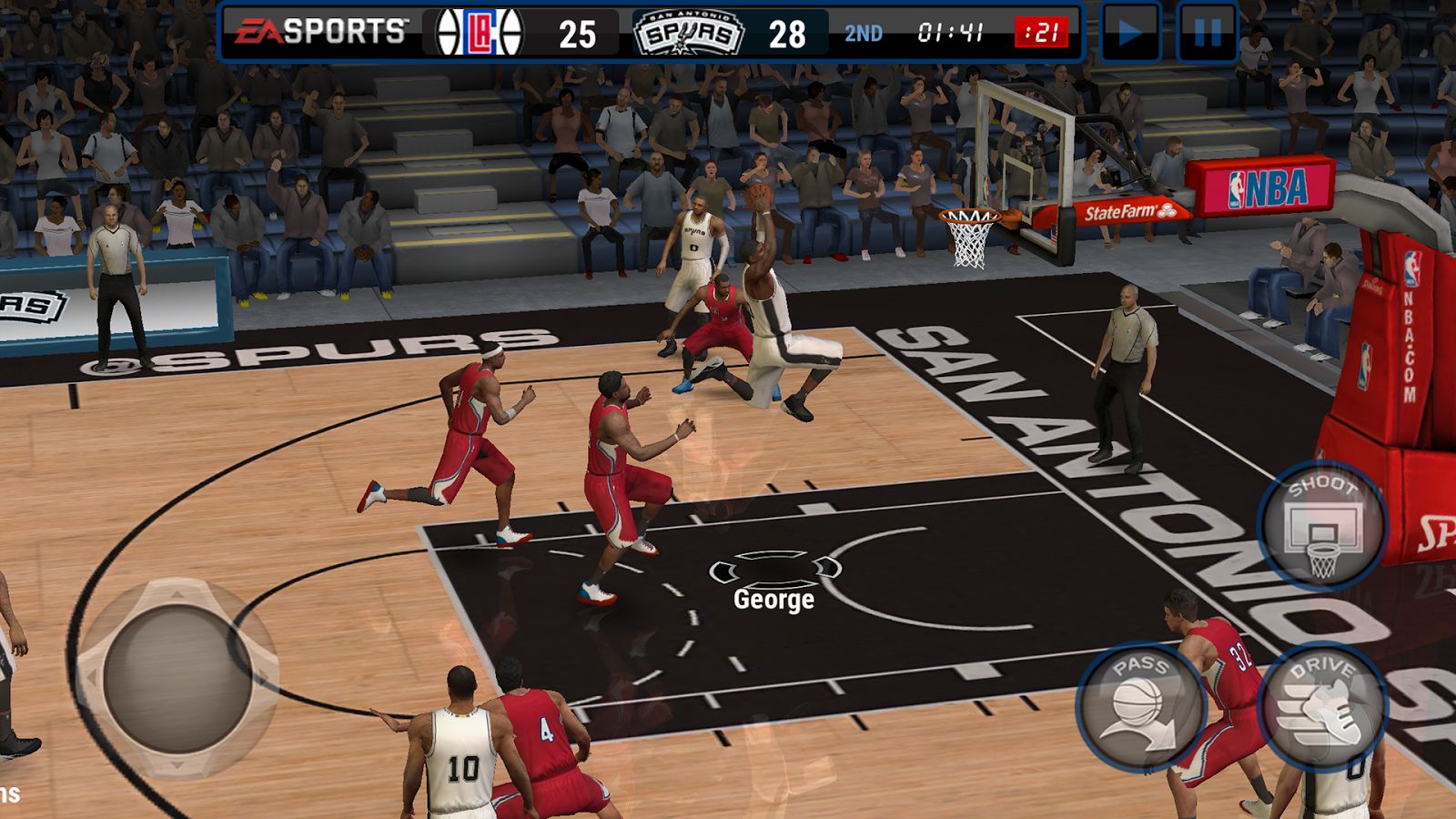 Screenshots of NBA LIVE Mobile Basketball for iPhone