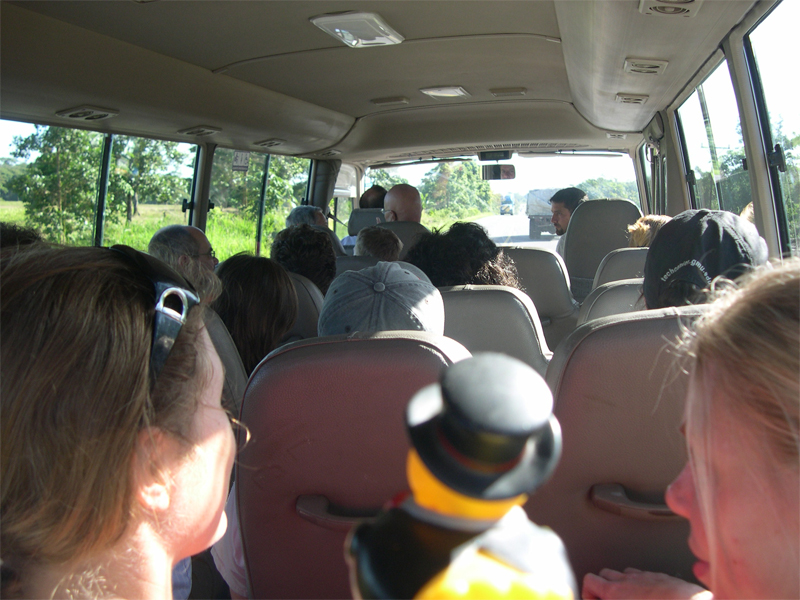 Photo: on the bus to tortuguero
