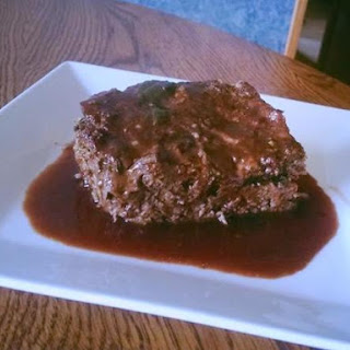 Mushroom Stuffed Meatloaf with Red Wine Jus